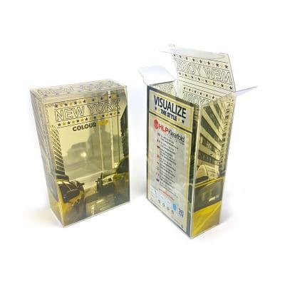 Folienprägung Transparente Kunststoffverpackung